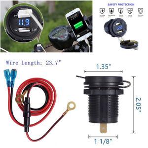 LED Digital Display Voltmeter Blue Color For Car,Boat,Marine,Motorcycle,ATV, RV