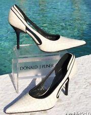 Donald Pliner Couture Antique Gator Leather Shoe Cut Out Sides Sleek 11 $280 NIB
