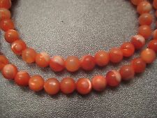 Mother Of Pearl Red Round 4mm Beads 90pcs