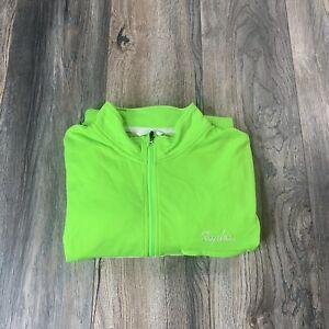 Rapha Brevet Long sleeve Windblock jersey Jacket Men's 2XL XXL Bright Green