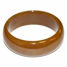 Brown Nephrite Jade Bangle Bracelet Russian Siberian Stone