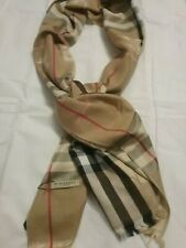 Genuine Burberry Big Check vintage Camel  Large Wrap Shawl Scarf