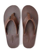 New Men American Eagle Leather Flip Flops Brown Size 8