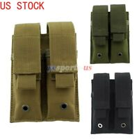 Tactical Molle Double Pistol Mag Hunting Pistol Magazine Pouch Utility Pouch