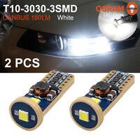 2x OSRAM T10 3030 3SMD Canbus No Error LED White Car Wedge Side Light Bulbs 12V