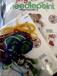 Sunset Jiffy Christmas Needlepoint Ornament Kits Stocking TO FINISH