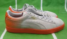 Puma Suede Classic + Blur Men's Shoes 359098 05 GRAY ORANGE  SIZE 10