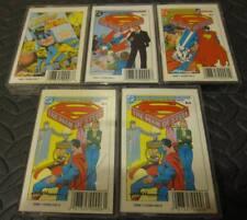 Set of 5 DC Comic Audio Cassettes - Superman and Batman - Near Mint Tested