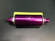Universal Racing 100 Micron AN8 Aluminum High Flow Fuel Inline Filter (PURPLE)