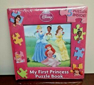Disney Princesses  My First Princess Puzzle Book Ariel Tiana Belle Cinderella