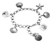 Sterling Silver Clam Shell Bracelet BR128