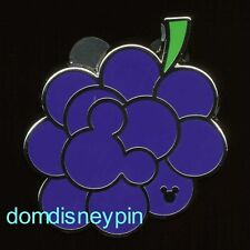 Disney Pin WDW 2017 Hidden Mickey Series - *Fruit Icons* - Grape Bunch (Grapes)!