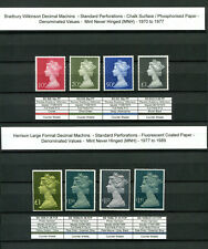 Specialised Machin Collection ALL Issues 1971 to 2019 970+ MNH stamps 2 Albums