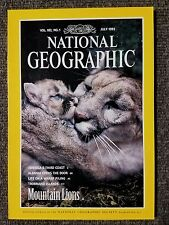 National Geographic magazine July 1992 Mountain Lions, Gulf Coast, Albania