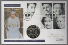 More details for 2002 guernsey the queen's golden jubilee five pounds coin cover | pennies2pounds
