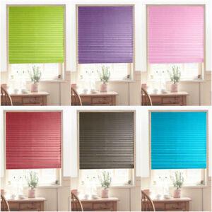 Roller Half Blackout Window Curtain Shade Pleated Rolling Blind Bathroom Kitchen