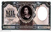 Espagne SPAIN ESPANA Bilet 1000 PESETAS 1940  P120 BARTOLOME MURILLO EF++