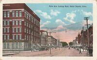 Postcard First Avenue Looking East Cedar Rapids Iowa