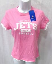 10f63e55e00 New York Jets Football Ladies Short Sleeve Shirt Pink New