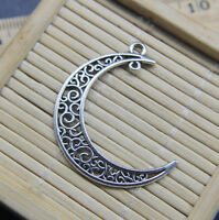 Wholesale Moon Alloy Charms Pendant Jewelry Making DIY 40*35mm