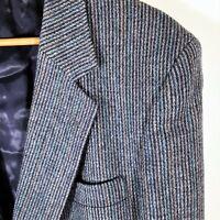 L Vintage English Manor Atomic Fleck Tweed Sport Coat Wool Blazer Jacket 42 R