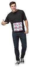 New Mens Six Pack Shirt Costume 3D Beer Cans Black T-Shirt One Size