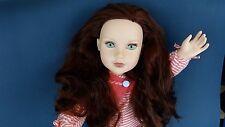 "18"" Journey Kelsey Girl doll reddish auburn hair Green eyes with ooak or play"