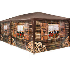 Tectake 402985 - Tonnelle de Jardin Motif Chalet 3x6 M 6 parties Latérales amo