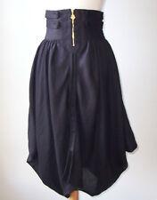 ANTONIO BERARDI Black Linen High Waist Tulip Skirt 40 4