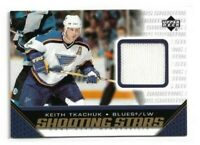 2005-06 UPPER DECK SHOOTING STARS JERSEY #SKT KEITH TKACHUK UD BLUES