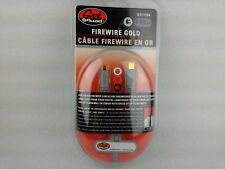 Firewire Cable gold 6 foot 6-pin to 4-pin GS-6FW64 IEEE GEEK SQUAD Cable NEW