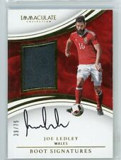 2017 Joe Ledley /75 Boot Auto Panini Immaculate Autographs Signatures