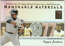 2002 TOPPS TRIBUTE MEMORABLE MATERIALS (REGGIE JACKSON) BV $40