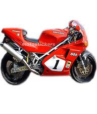 Aufkleber Motorrad - Sticker Set Ducati 888