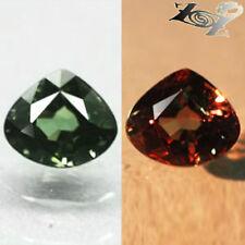 VVS 1 Natural Pear 5*5.5 mm. Intense Green Nandagala Color Change Garnet 0.73 CT
