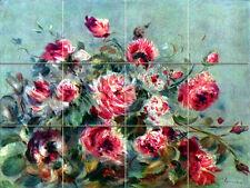 Art Pierre Auguste Renoir Flowers Mural Ceramic Backsplash Bath Tile #1844