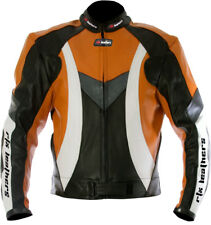 NEW KTM Racing Orange & Black Motorcycle Motorcross CE LEATHER JACKET M 40""