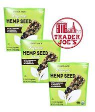 🔥 X3 BOX  Trader Joe's Organic Hemp Seed Bars 🔥