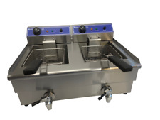 More details for quantum ce ® chip fryer 13 litre twin table top electric with tap tf13wt