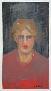 SHEILA HOLLAND IMPORTANT CORNISH ARTIST - PORTRAIT STUDY