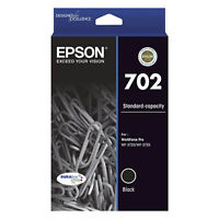 GENUINE Original Epson 702 Black Ink Cartridge Toner WF-3720 WF-3725 T344192