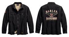 Harley-Davidson#1 Genuine Classics Shirt Hemd Jacke Gr. L - Schwarz, Herren