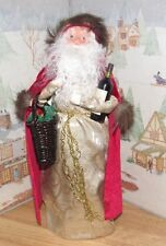 Byers Choice Caroler Wine Santa w Cup Bottle of Wine & Basket 2016 *