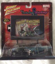 Johnny Lightning Spiderman Yesterday Today Diecast Car Billboard Bx5