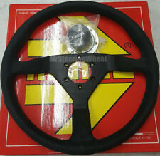 MOMO Monte Carlo Alcantara Suede 350mm Black Stitch Steering Wheel  - MCL35AL1B