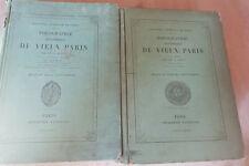 TOPOGRAPHIE HISTORIQUE DU VIEUX PARIS 2 TOMES