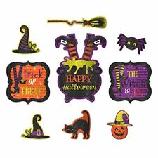 Friendly Witch Cutouts Halloween Decoration (9 Pack)