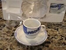 Levtov Espresso Greek  Set Of 2 Cappuccino Cups/Saucers Greek Collection YASOU
