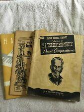 Lot of 3 vintage Piano/ organ books