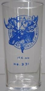 1950's~P.A.P. Loyal Order Of Moose 331~Glass